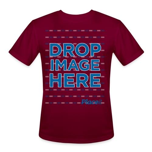 DROP IMAGE HERE - Placeit Design - Men's Moisture Wicking Performance T-Shirt