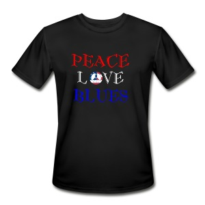 Peace, Love and Blues - Men's Moisture Wicking Performance T-Shirt