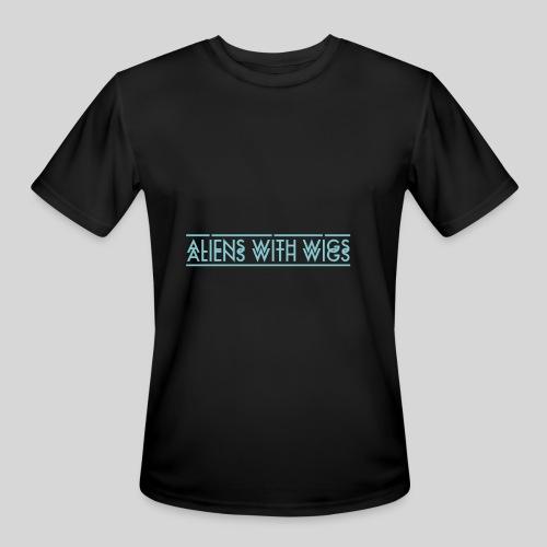 AliensWithWigs-Logo-Bleu - Men's Moisture Wicking Performance T-Shirt