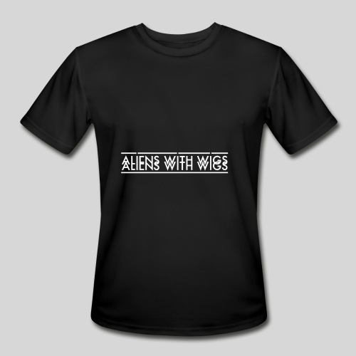 AliensWithWigs-Logo-Blanc - Men's Moisture Wicking Performance T-Shirt