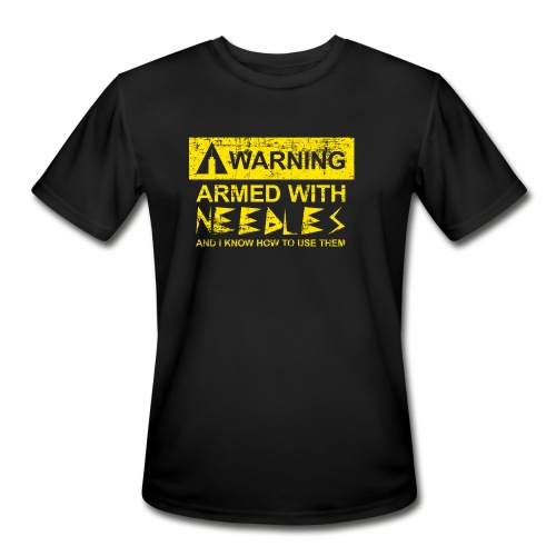WARNING Armed With Needles - Men's Moisture Wicking Performance T-Shirt