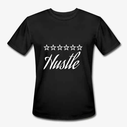 hustle with white stars - Men's Moisture Wicking Performance T-Shirt