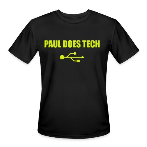 Paul Does Tech Yellow Logo With USB (MERCH) - Men's Moisture Wicking Performance T-Shirt