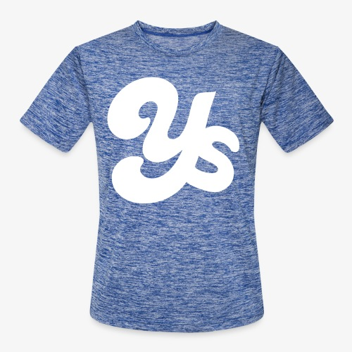 White logo - Men's Moisture Wicking Performance T-Shirt
