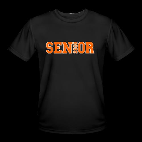 Orange Senior White Outline - Men's Moisture Wicking Performance T-Shirt