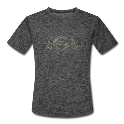 Camouflage Hunting and Shooting Sports Logo - Men's Moisture Wicking Performance T-Shirt