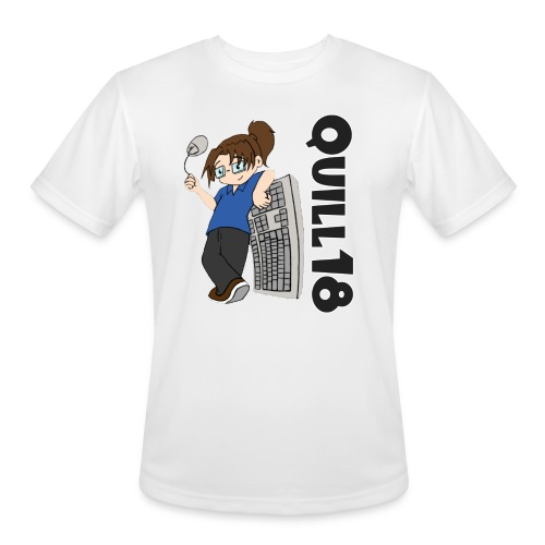 Quill18 Old School Logo - Men's Moisture Wicking Performance T-Shirt