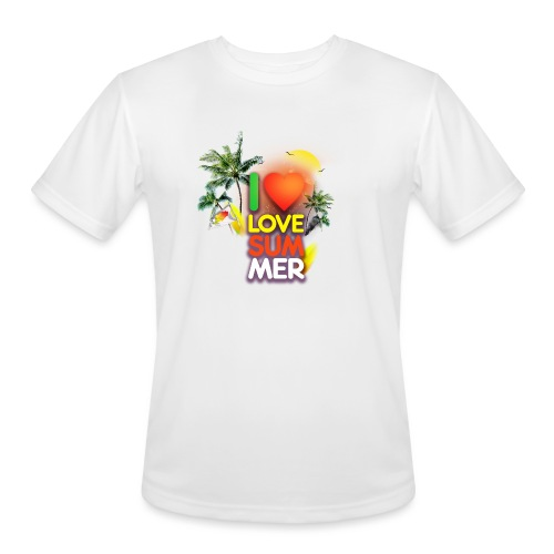 I love summer - Men's Moisture Wicking Performance T-Shirt