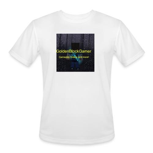 GoldenBlockGamer Tshirt - Men's Moisture Wicking Performance T-Shirt