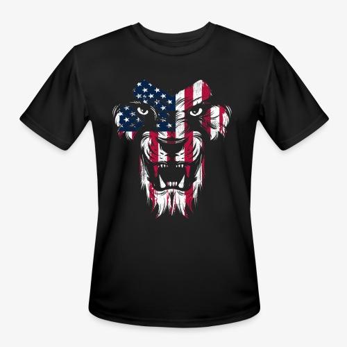 American Flag Lion - Men's Moisture Wicking Performance T-Shirt