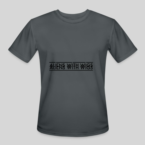 AliensWithWigs-Logo-Noir - Men's Moisture Wicking Performance T-Shirt