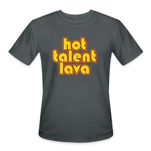 Hot Talent Lava - Yellow Letters - Men's Moisture Wicking Performance T-Shirt