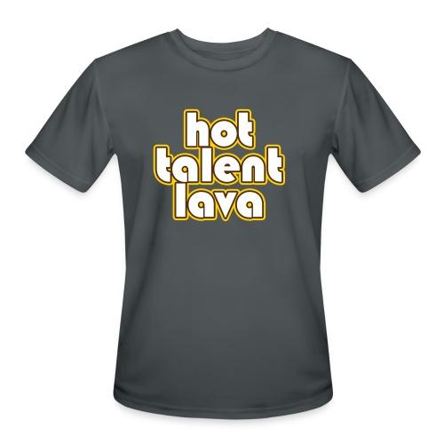 Hot Talent Lava - White Letters - Men's Moisture Wicking Performance T-Shirt