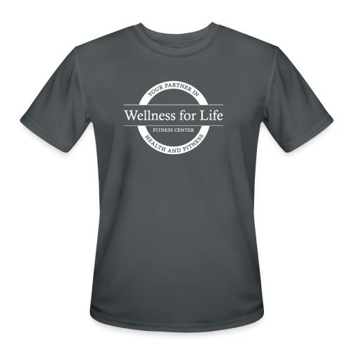 White WFL Logo - Men's Moisture Wicking Performance T-Shirt