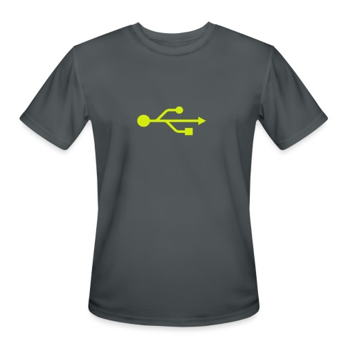 Yellow USB Logo Mid - Men's Moisture Wicking Performance T-Shirt