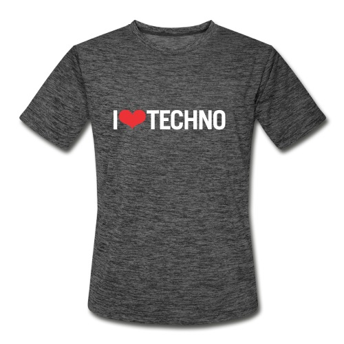 I Love Techno - Men's Moisture Wicking Performance T-Shirt
