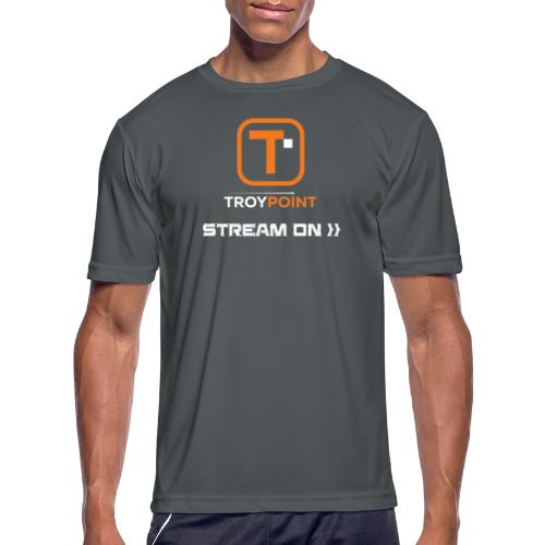 TROYPOINT Stream On Orange Logo - Men's Moisture Wicking Performance T-Shirt