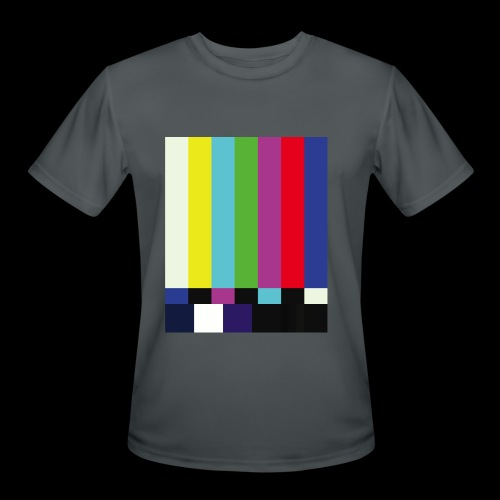 This is a TV Test | Retro Television Broadcast - Men's Moisture Wicking Performance T-Shirt