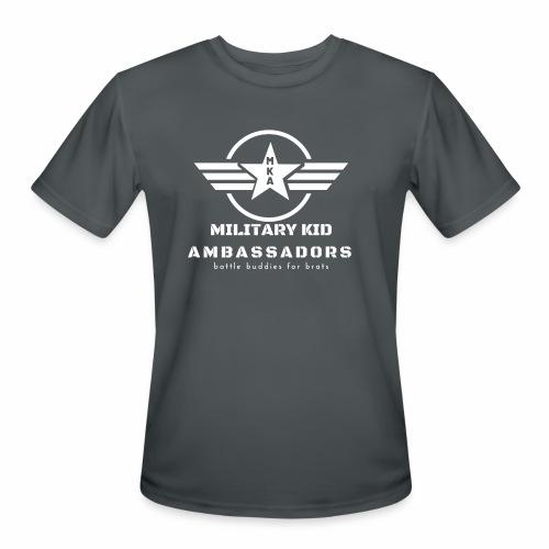 Military Kid Ambassador White - Men's Moisture Wicking Performance T-Shirt