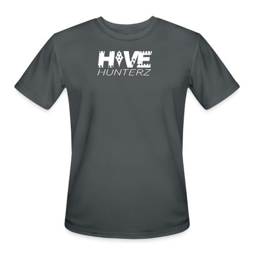 White Hive Hunterz Logo - Men's Moisture Wicking Performance T-Shirt
