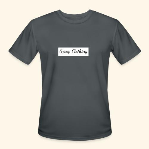 Cursive Black and White Hoodie - Men's Moisture Wicking Performance T-Shirt