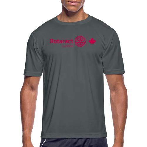 Rotaractor At Work - Cranberry - Men's Moisture Wicking Performance T-Shirt