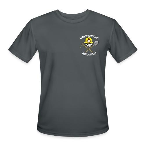 Miner Logo White Text 08 20 14 png - Men's Moisture Wicking Performance T-Shirt