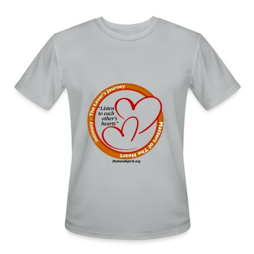 Matters of the Heart T-Shirt: Listen to each other - Men's Moisture Wicking Performance T-Shirt