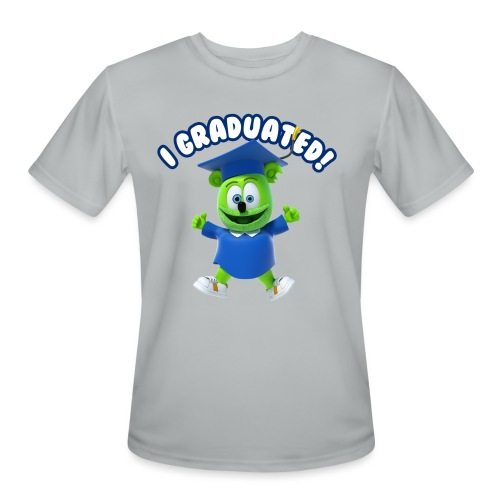 I Graduated! Gummibar (The Gummy Bear) - Men's Moisture Wicking Performance T-Shirt