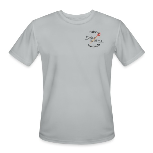 sabre escrime logo with text - Men's Moisture Wicking Performance T-Shirt