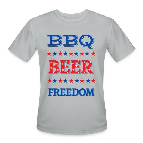 BBQ BEER FREEDOM - Men's Moisture Wicking Performance T-Shirt