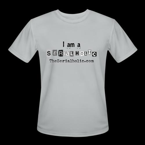 Black Serialholic Logo - Men's Moisture Wicking Performance T-Shirt
