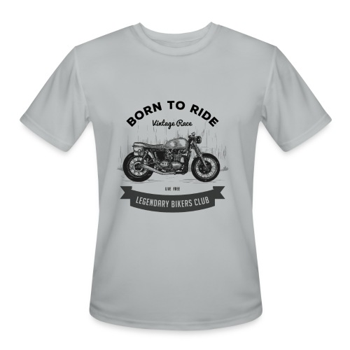 Born to ride Vintage Race T-shirt - Men's Moisture Wicking Performance T-Shirt