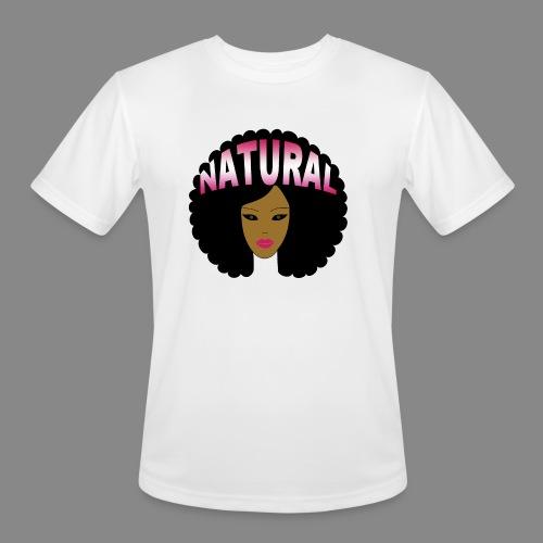 Natural Afro (Pink) - Men's Moisture Wicking Performance T-Shirt