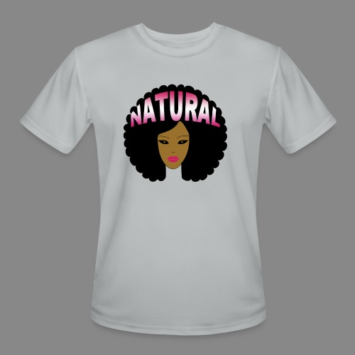 Natural Afro (Pink) - Men's Moisture Wicking Performance T-Shirt