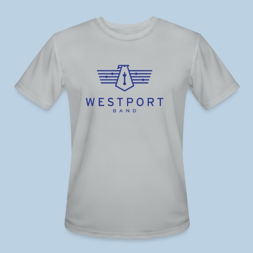 Westport Band Blue on transparent - Men's Moisture Wicking Performance T-Shirt