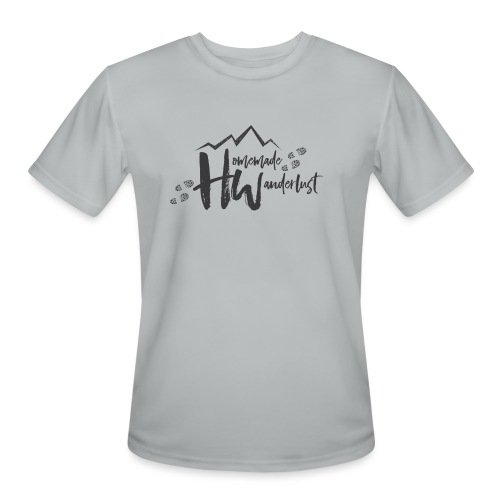 Homemade Wanderlust Black Logo - Men's Moisture Wicking Performance T-Shirt