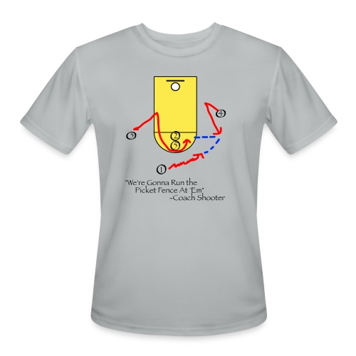 We're Gonna Run The Picket Fence At'Em T-Shirt - Men's Moisture Wicking Performance T-Shirt