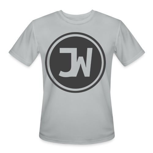 Grey Johannes With Logo - Men's Moisture Wicking Performance T-Shirt