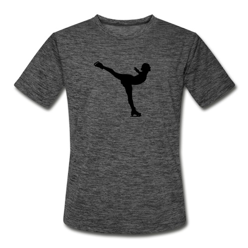 Ice Skating Woman Silhouette - Men's Moisture Wicking Performance T-Shirt