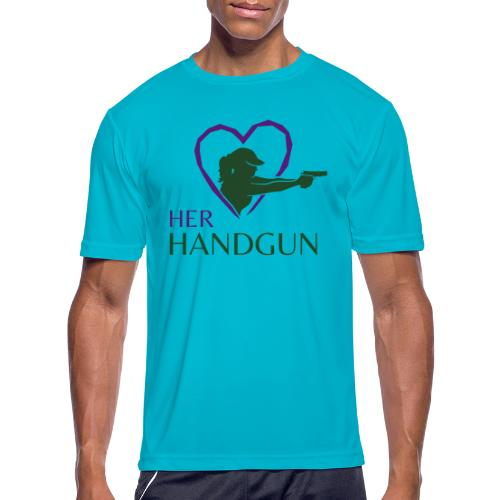 Official HerHandgun Logo - Men's Moisture Wicking Performance T-Shirt