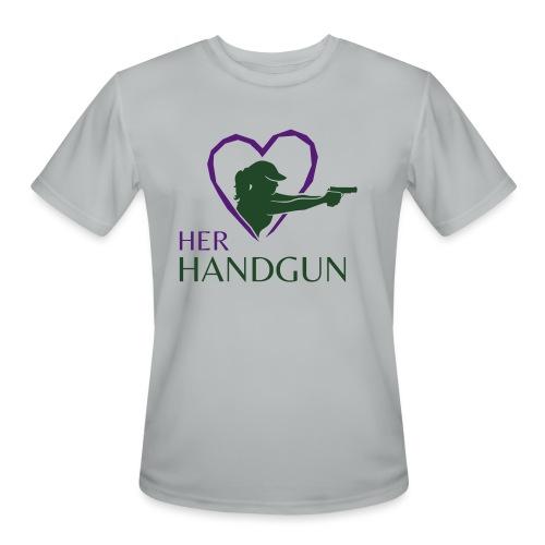 Official HerHandgun Logo - Men's Moisture Wicking Performance T-Shirt