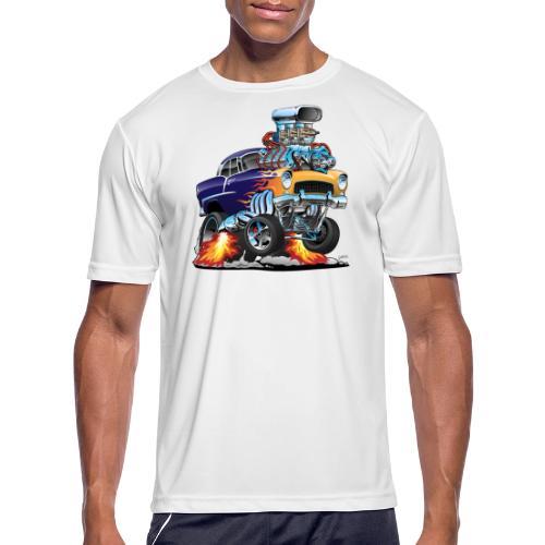 Classic Fifties Hot Rod Muscle Car Cartoon - Men's Moisture Wicking Performance T-Shirt