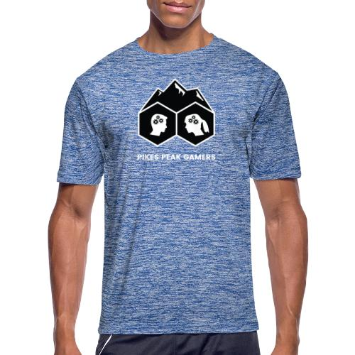Pikes Peak Gamers Logo (Solid Black) - Men's Moisture Wicking Performance T-Shirt