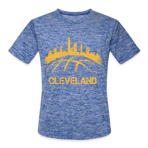 Cleveland Basketball Skyline - Men's Moisture Wicking Performance T-Shirt