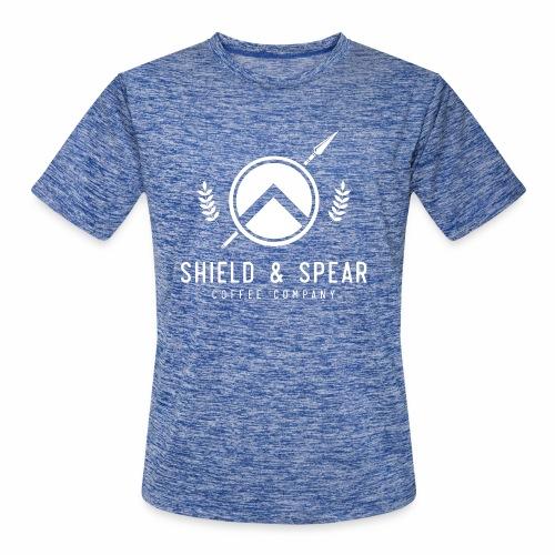 Shield and Spear White Logo - Men's Moisture Wicking Performance T-Shirt