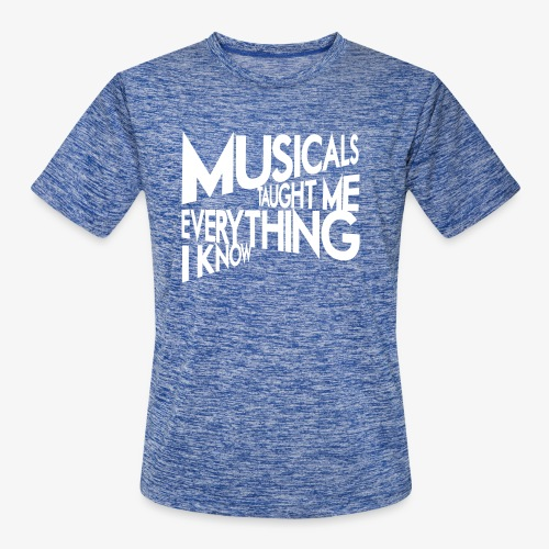 MTMEIK White Logo - Men's Moisture Wicking Performance T-Shirt