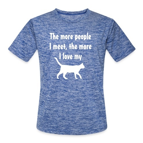 I love my cat - Men's Moisture Wicking Performance T-Shirt