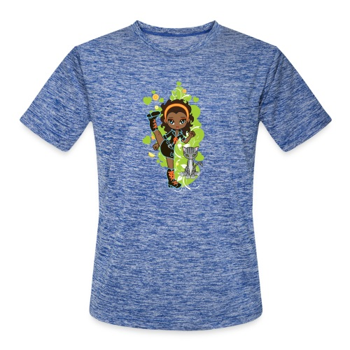 Aisha the African American Chibi Girl - Men's Moisture Wicking Performance T-Shirt