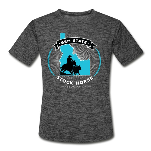 Turquose Sunburst Logo - Men's Moisture Wicking Performance T-Shirt